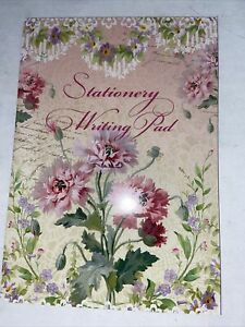 Pink Floral Letter Paper Stationary Writing Pad X 25 sheets A5