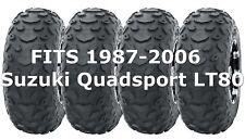 Set 4 1987-2006 Suzuki Quadsport LT80 WANDA Sport ATV tires 19x7-8 19x7x8