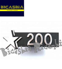7183 - TARGHETTA BAULETTO ANTERIORE 200 STELLA VESPA 200 COSA 1 2 CL CLX