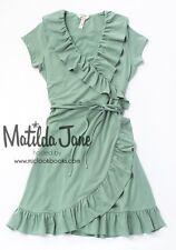 NEW womens Matilda Jane Happy & Free Green Light As Air Dress size XL X Large