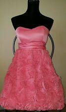Women's XOXO Floral roses coral color  Party Dress Sz 10