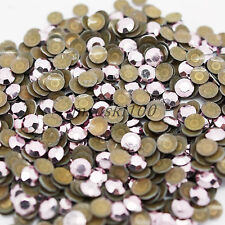 1440 Metal Hot Fix Iron on Rhinestud With Glue on Back 2 3 4 5mm Easy to Apply Light Pink 2mm