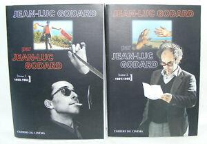 Lot 2 livres Jean-Luc GODARD par GODARD Cahiers du Cinéma 1950-1984-1998 2 tomes