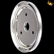 chrome 1 groove crankshaft pulley for small block chevy short waterpump 327 350