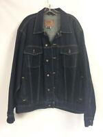 Route 66 Mens Size XL Blue Jean Jacket Dark Wash Denim