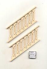 "Stairs Railing - Assembled NE1207 2pc 5-1/2"" long basswood 1/12 scale PBL-3S"