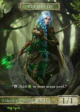 3x Elf Druid #3 Custom Altered Tokens GnD Cards