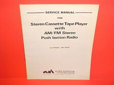 1980 ASI CASSETTE CAR STEREO TAPE PLAYER/AM-FM RADIO SERVICE MANUAL DB-9300