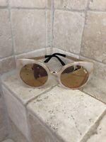 Quay Australia Sunglasses Women's Last Dance Marble/Gold NWT Incl Soft Case