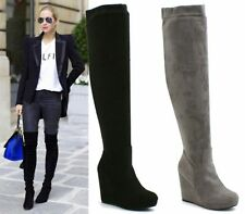 Wedge Synthetic Over Knee Boots for Women