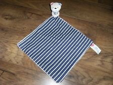 NEW EX  DISPLAY MOTHERCARE WHALE BAY NAVY AND WHITE STRIPED  COMFORT BLANKET