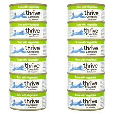 12 x thrive Wet Cat Food Tuna & Vegetable - 100% Complete Tin - Grain-Free - 75g