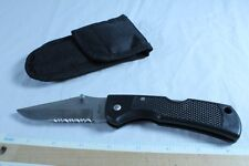 MAXAM Marines Folding Pocket Knife Mid Lock Combination w/ Case