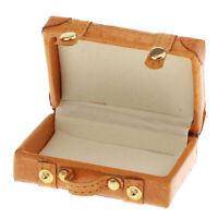 1:6 BJD Dollhouse Miniature Yellow PU Suitcase Luggage Accs Kids Pretend Toy