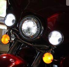Hogworkz Chrome 7 LED Halomaker Headlight with Auxiliary