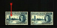 "PITCAIRN ISLANDS 1946 3d VICTORY ""FLAGSTAFF"" FLAW FINE USED"