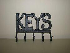 Key Holder Wall Mounted Keys 5 Hooks Cast Iron  Hanger