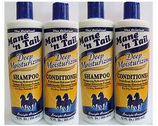 Mane'n Tail profunda Hidratante Shampoo & Acondicionador (paquete De 4)