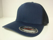 FLEXFIT TRUCKER MESH CAP PLAIN BLANK BASEBALL HAT FLEX FIT CURVED FITTED 6511