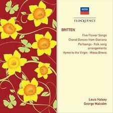 Britten, Louis Halsey, George Malcolm - Partsongs, Five Flower Songs CD NEW