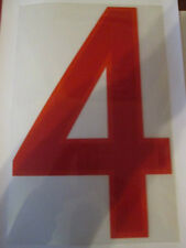 Big no 4 England Home Football Shirt Name Set Rear Number Red Sporting ID