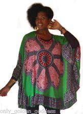 green poncho blouse ruffle OS M L XL 1X 2X 3X 4X stunning easy to wear ze388