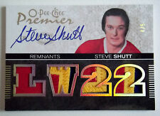 2007-08 OPC Premier Remnants STEVE SHUTT On-Card Auto 10 Color Quad Patch SP #/5