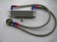 Kit radiateur d'huile 9 rangées durites tressées inox