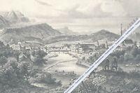 Bad Ischl - Ortsansicht - Großformat - Kunstdruck - um 1855 ...... N18-8