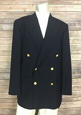 Polo University Club Ralph Lauren Blazer 19B015 Mens 42R Navy Gold Button DB