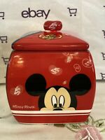 Disney Jelly Belly Ceramic Candy Dish Jar Mickey Minnie Mouse Goofy Donald Duck