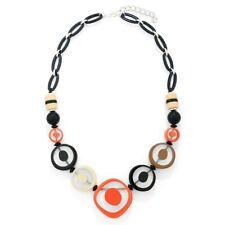 New Fashion  Circles  Statement Necklace Chain  Orange