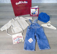 American Girl Doll KIT HOBO OVERALLS OUTFIT Cap Ascension Bag Shirt AG Box