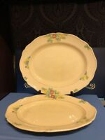 """2 x Royal Doulton Minden Platters 15.5"""" and 13.5"""""""