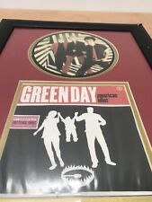 """More details for greenday limited edition picture disc in frame 16""""x12"""" man cave"""