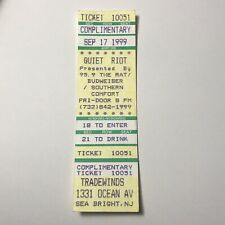 Quiet Riot Tradewinds Sea Bright New Jersey NJ Concert Ticket Stub Vintage 1999