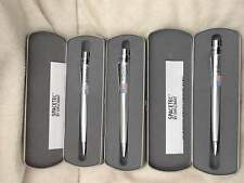 PACK of 3  Spacetec Zero Gravity Pens by Diplomat- Silver Body & Black Ink 8091