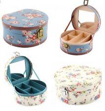 More details for jewellery box organiser vanity case storage box lid mirror trinket cosmetic box