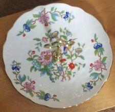 Beautiful Aynsley Pembroke Bird Single Tier Tea Cake Stand Cupcake Muffin Plate