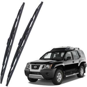 Genuine OEM Set Front Windshield Wiper Blades For 2005-2015 Nissan Xterra MK2