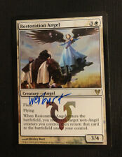 Restoration Angel foil Avacyn Restored. Signed by Artist Wesley Burt. SP Nice