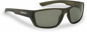 Flying Fisherman Tailer Polarized Sunglasses Moss Frames/Smoke Lens 7729MS