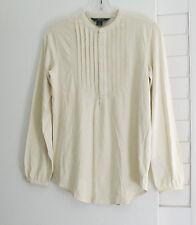 Ralph Lauren Girls Long Sleeve Shirt Guide Cream Sz XL (16) - NWT