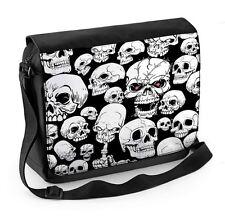 Skull Garden Skeleton Laptop Messenger Bag - Goth Emo Skulls
