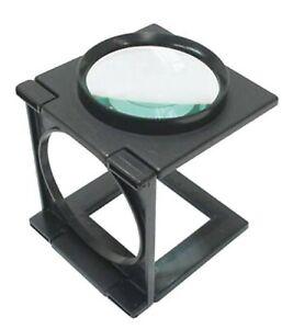 MAGNIFYING GLASS FOLDABLE Stand Large Hands Free Repair Crafts Jewellery Reading