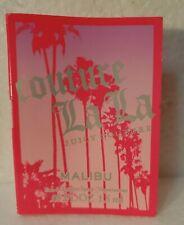JUICY COUTURE ~ MALIBU TOILETTE SPRAY PERFUME ~ .05 SAMPLE VIAL ON CARD ~ LA LA