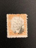 1871-1872 US Revenue Stamps Scott #R135 Washington Used Embossed Cancel