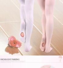 Professional Kids Children Girls Soft Microfiber Convertible Ballet Dance Tights