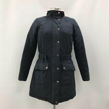 Barbour Coat Navy Blue Size UK 10 Hooded Faux Fur Parka Women's Winter 344056