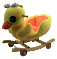New Duck Rocking Seat Wheels Baby Child Toy Animal Gift New 2+ Ride On Soft